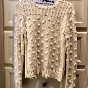 A blogger fave!  Cream Pom Pom look sweater.